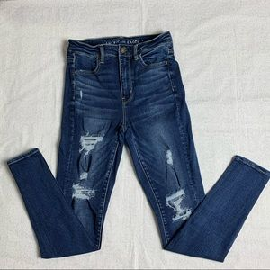 AE Dark Blue Ripped Jeans